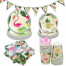NAL 141Pcs Flamingo Party Supplies Set Kids