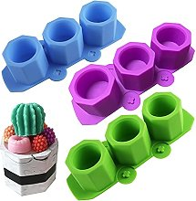 NALCY Plant Flower Pot Silicone Molds, 3PCS