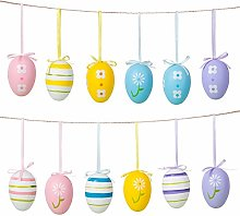 Naler 12pcs Multicolor Easter Eggs, Plastic