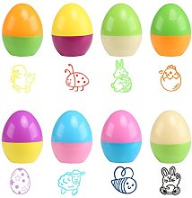 Naler 8pcs Happy Easter Egg Self-inking Stamper