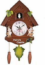 Naliovker Cute Bird Wall Clock Cuckoo Alarm Clock