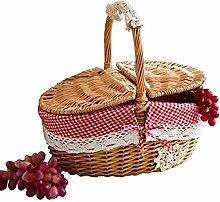 Naliovker Hand Made Wicker Basket Wicker Camping