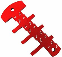 Naliovker Red Inch Cutter Head Height Ruler