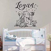 Name Wall Sticker Winnie The Pooh Art Sticker