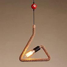 NAMFMSC American Vintage Hemp Rope Pendant Light