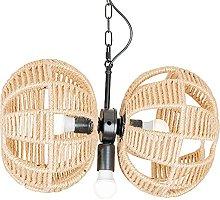 NAMFMSC E27 Pendent Lamp Hand-woven Hemp Rope Lamp