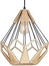 NAMFMSC E27 Suspension Droplight Rustic Woven Cage