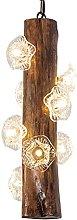 NAMFMSC Retro Industrial Style Wooden Pendant