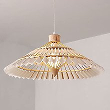 NAMFMSC Simple Bamboo Woven Suspension Chandelier