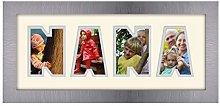 Nana Photo Frame Word Frame Brushed Silver Finish