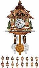 NANANA Vivid Large Cuckoo Clock Wall Cuckoo Clock,