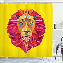 Nancyint Zoo Shower Curtain,Colorful Animals