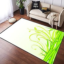 NANITHG Area Rugs Bamboo with Artistic Floral
