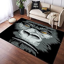 NANITHG Area Rugs Close up Gorilla Portrait with