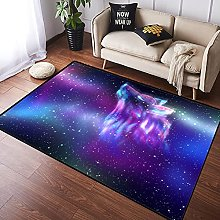 NANITHG Area Rugs Colorful northern sky with