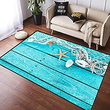 NANITHG Area Rugs Delicate nautical border with