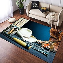 NANITHG Area Rugs Equestrian Backdrop with Antique