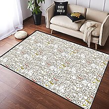 NANITHG Area Rugs Funny characters with legs Milk