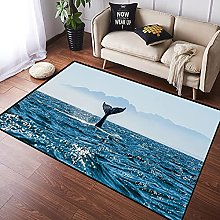 NANITHG Area Rugs Funny Seascape with Humpback