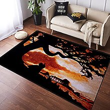 NANITHG Area Rugs Gone with The Wind Movie Classic