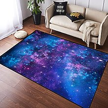 NANITHG Area Rugs Mystical Sky with Star Clusters