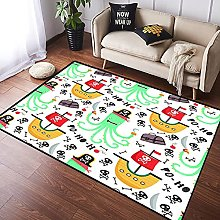 NANITHG Area Rugs pirate theme design for