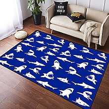 NANITHG Area Rugs Shark Pattern with Various