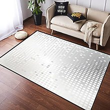 NANITHG Area Rugs Shiny with silver sequins Soft
