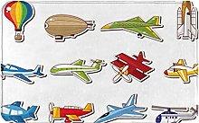 NANITHG Bath Mat,Non Slip Bath Rug,Aircrafts With