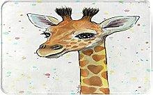 NANITHG Bath Mat,Non Slip Bath Rug,Baby Giraffe