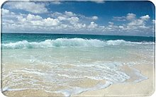 NANITHG Bath Mat,Non Slip Bath Rug,Beach With