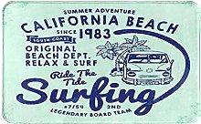 NANITHG Bath Mat,Non Slip Bath Rug,California Surf