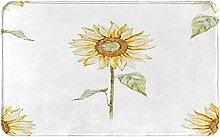 NANITHG Bath Mat,Non Slip Bath Rug,Sunflowers With