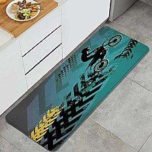 NANITHG Kitchen Mats Rug Washable,Extreme Sports