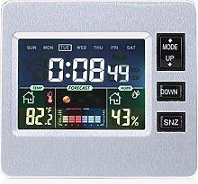 Nannday Weather Display Alarm Clock, LCD Digital