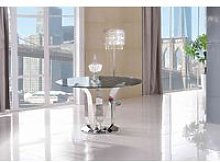 Naples Glass Dining Table [Glass and Polished