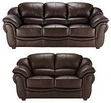 Napoli 3-Seater Plus 2-Seater Leather Sofa Set