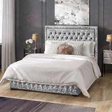 Napoli Crushed Velvet Upholstered Ottoman Bed