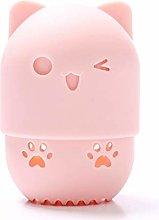Nargut Makeup Sponge Blender Container,Cute Cat