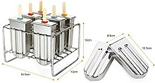 Naroote Ice Lolly Mold, Stainless Steel Popsicle