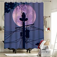 Naruto Itachi Shower Curtain Set with 12 Hooks for