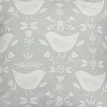 Narvik Bird Scandi Grey Fryetts Cotton Fabric for