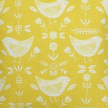 Narvik Bird Scandi Ochre Fryetts Cotton Fabric for