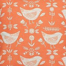 Narvik Bird Scandi Orange Fryetts Cotton Fabric