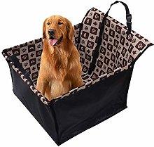 NASDIZL Dog Boot Cover Brown Grid Pattern Dog Seat