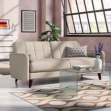 Natalie 3 Seater Sofa Elle Decor Upholstery: Beige