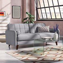 Natalie 3 Seater Sofa Elle Decor Upholstery: Light