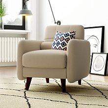 Natalie Armchair Elle Decor Upholstery: Beige