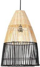 National hanging lamp bamboo with black - Bamboo