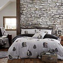 National Textile LTD Penguin Pattern Teddy Fleece